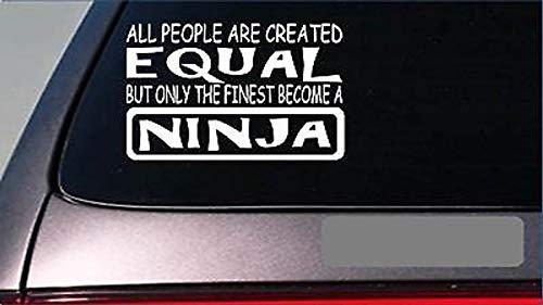 Ninja Karate Kostüm - Cellayay Ninja Equal StickerG698 20,3 cm Vinyl MMA Kung Fu Karate Schwarz Gürtel Dojo Kostüm