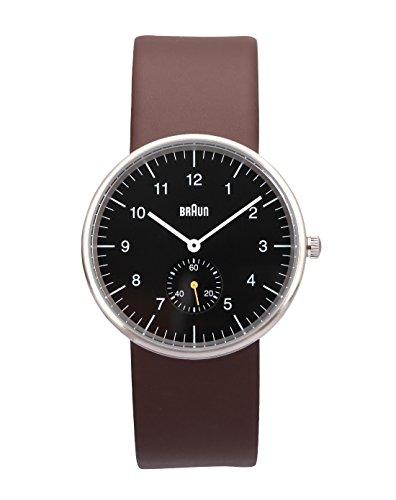 Braun BN0024BKBRG - Reloj de cuarzo unisex, correa de cuero color marrón
