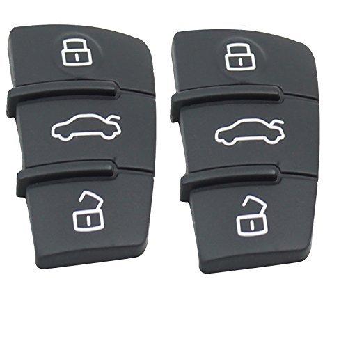 3 Tasten Ersatz Pad Rubber Remote Key Fob Kompatibel mit Audi A3 A4 A5 A6 A8 Q5 Q7 TT S Linie RS Pad Remote