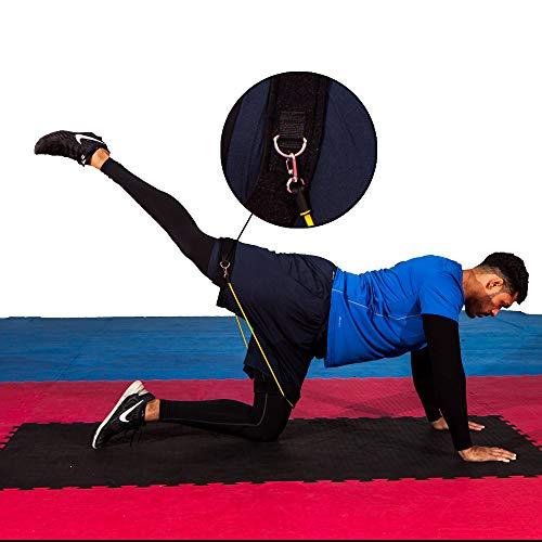 FH Extreme Training Leg Resistance Bands  13 pc kinetic workout set  PILATES  plyometrics  strength training  speed improvement  yoga