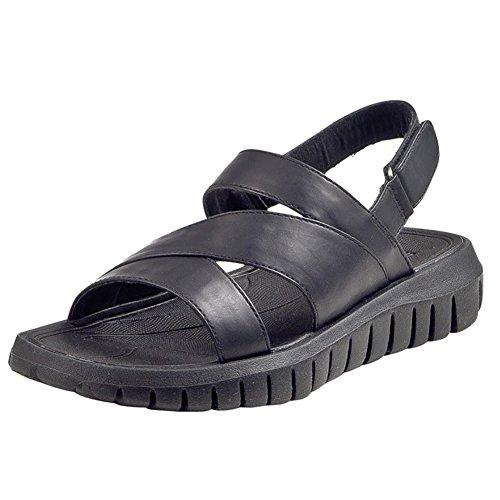 MANITU SERO FLEXOLOGY Damen Sandalen, schwarz, 910516-1, Gr 41