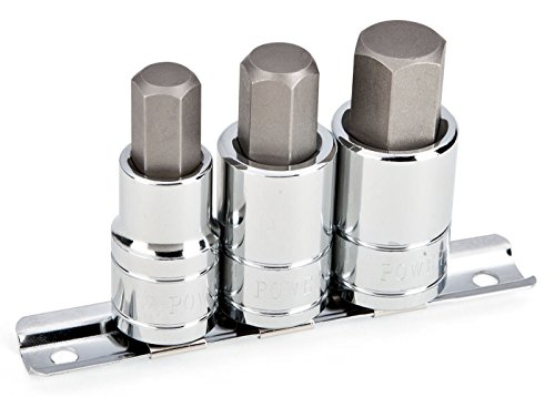 Powerbuilt 6418631/5,1cm Dr. Sae Hex Bit Socket Set (3Stück) (1/2-5/20,3cm) - 1/2 Dr. Hex Bit