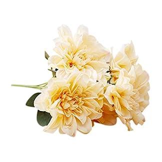 shangjunol 6 Jefe de la Dalia de Las Flores Artificiales Falso Boda del Ramo Floral Glorioso Decal decoraci¨®n del hogar