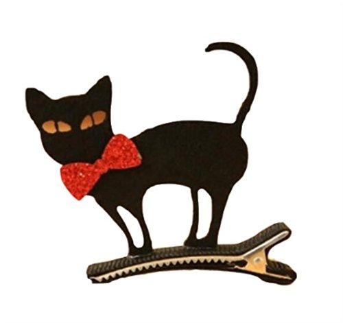 MwaaZ Kosmetik Haarschmuck Halloween Hairclips Kinder Cartoon Katze Haarspange für Cosplay Party Dekorationen (schwarz)