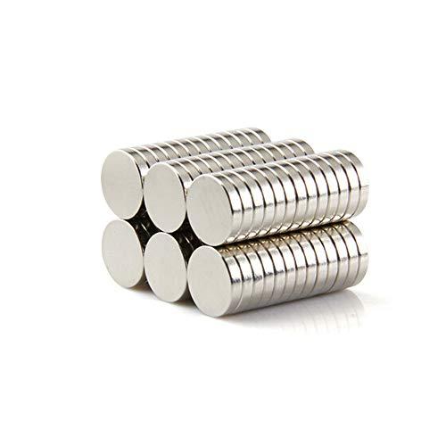 Yizhet 50 Stück Neodym Magnet Ultra-stark Magnet Supermagnete Haushaltsmagnete 10x2 mm Mini Magnet für Magnettafel, Whiteboard, Tafel, Pinnwand, Kühlschrank u.v.m. (10 x 2 mm)