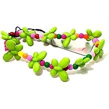 Children's Bright Coloured Plastic Butterfly StreTch Bracelet(Green)