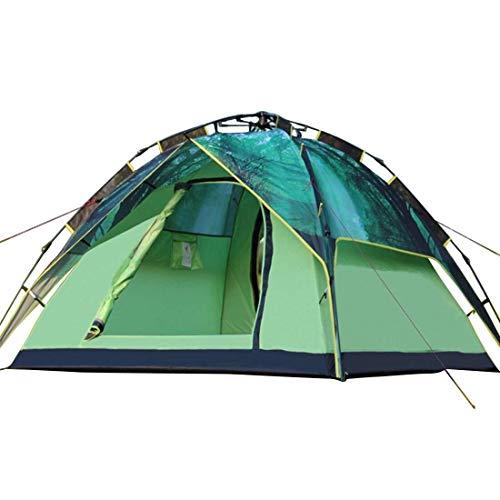 CHUDAN+ 3-4 Doppel-Camping-Schatten-Automatikzelt Outdoor-Doppel-Campingzelt for Mehrere Personen