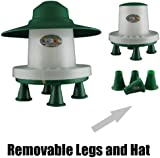 3kg Ascot Outdoor Feeder Complete With Legs Green and White