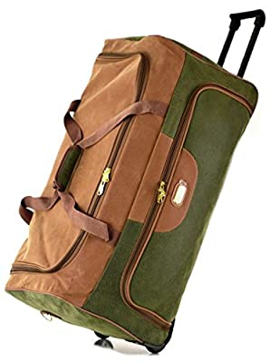 Faux Suede Travel Luggage Wheeled Trolley Cases Holdall Suitcase Duffle Bag