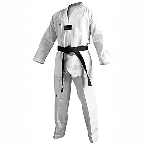 Adidas Taekwondo-Dobok adichampion II, schwarz, Herren, weiß (Martial Arts Uniform Adidas)