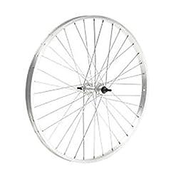 Ruota cerchio bici posteriore 26 x 1,75 cerchio alluminio mozzo acciaio con dadi