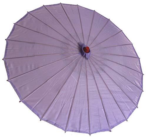 AAF Nommel ® Deko- Sonnenschirm aus Holz in lila violett einfarbig transparent, 009