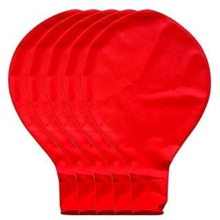 BZLine Großer riesiger Ovaler Großer Latex-Ballon, 5 Stück 36 Zoll 90cm Perle Latex Luftballons für Party Luftballons Spielzeug für Kinder Hochzeit Party Festival Dekoration (Rot)