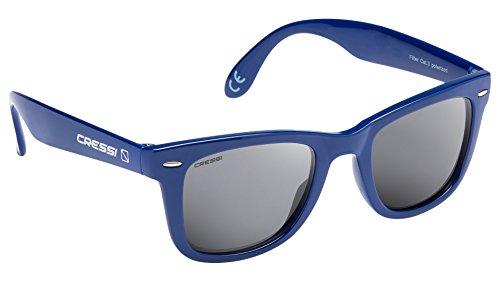 Cressi Tortuga, Occhiali da Sole Unisex-Adulto, Blu/Lente Grigio, Taglia (Occhiali da sole)