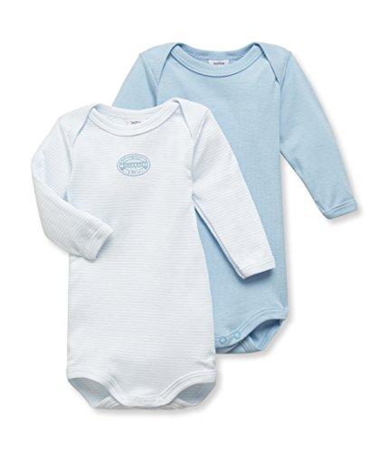 Petit Bateau Baby-Jungen Body Lot 2P ML, 2er Pack, Blau (Special 00), 92 (Herstellergröße: 24m/86cm)