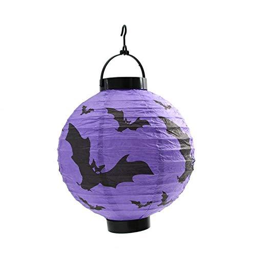 bobo4818 Hängend Dekor Halloween Dekorationen Glühend Papier Laternen Dekorativ Requisiten Papier Laterne Rund Lampenschirm Hochtzeit Party Dekoration Ballform (B) -
