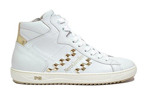 Nero Giardini Sneakers alte moto gp bianco 7273 scarpe donna P717273D 37