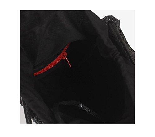 GSHGA Borse Da Donna Borsa Quadrata Piccola Borsa In Tessuto Borsa Crossbody Borse Quadrate,Beige Black