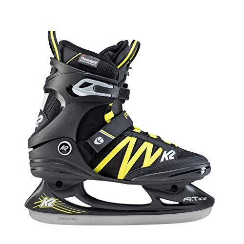 K2 Skates Herren F.I.T. Ice PRO Skates, Schwarz/Blau, 44 EU