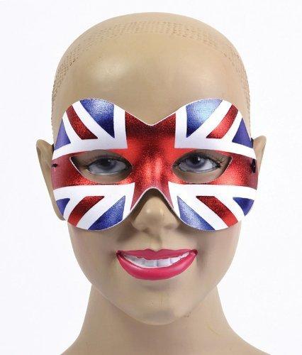Weiblich, Union Jack, Großbritannien-Augenmaske Maskerade Fancy Dress