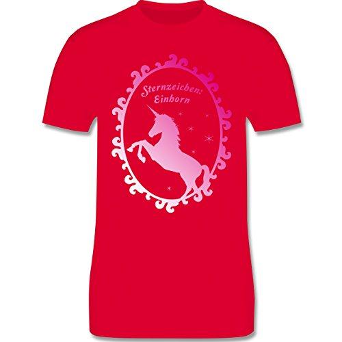 Statement Shirts - Sternzeichen: Einhorn - Herren Premium T-Shirt Rot