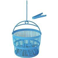 MSV MS172 - Cesta + 24 Pinzas, plástico, Color Azul