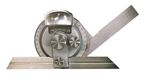 TOP Universal-Winkelmessgerät 4x90° mit Lupe (Schiene 200 mm)