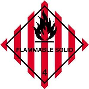 hazchem étiquette 100mm Classe 4diamant inflammable massif autocollant vinyle autocollant Rouleau de 1000étiquettes
