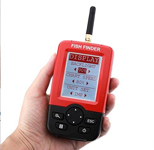 HCFKJ Fisch Finders Alarm Tiefe Finder Echolot Mit Usb Anrechenbar Tragbare Sonar Sensor Wireless LCD - Mit Fisch-finder Gps