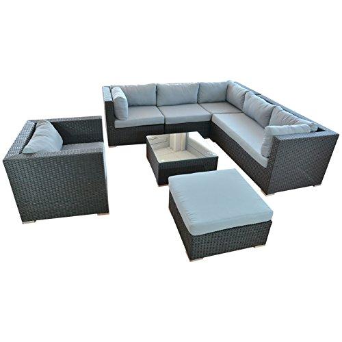 Ssitg Polyrattan Lounge Sitzgruppe Gartenmöbel Garnitur Poly Rattan