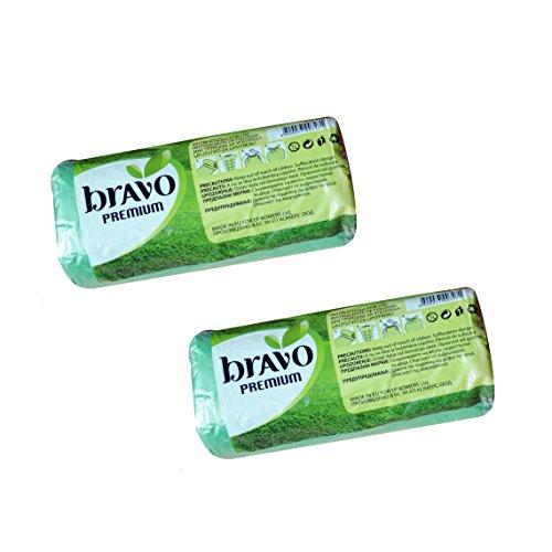 2Rollen von 35L (8Liter) Umweltfreundlich biologisch abbaubar L Müll Mülltüte–Natural auf Stärkebasis auf Kunststoff–insgesamt 60Taschen (Mülleimer Caddy Tasche)