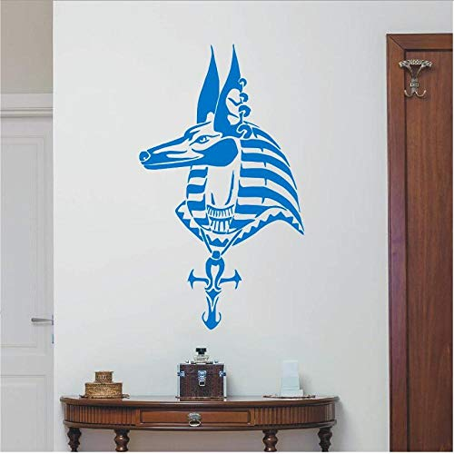 lyclff Mode Schlafzimmer wandaufkleber ägyptischen Gott Pferd Dekoration wandkunst Aufkleber Applique wandbild blau 42x75 cm