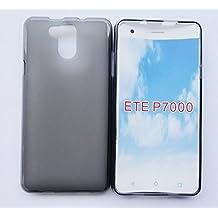 PREVOA Silicone TPU Funda Cover Case para Elephone P7000 5.5 Pulgadas Smartphone - Negro