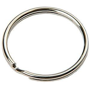 SBS® Schlüsselring | Ø 12 15 16 18 20 25 30 35 mm | 100 Stück oder im Set | Stahl | glänzend und abgerundet | Schlüsselanhänger Schlüsselringe Schlüssel Ring