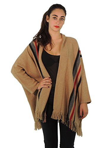 maxmara-weekend-acume-cardigan-donna-maglia-poncho-in-lana-a-righe-made-in-italy-m-marrone