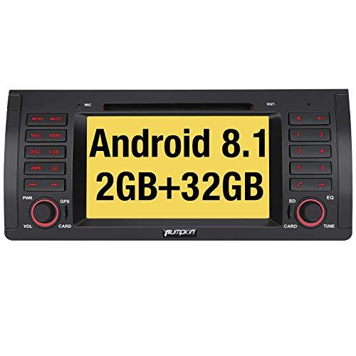 Pumpkin Android 8.1 Autoradio DVD pour BMW E39 Navigation de Voiture Ecran Tactile 7\