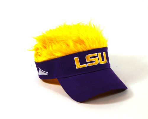 ncaa-lsu-tigers-flair-hair-visor-purple