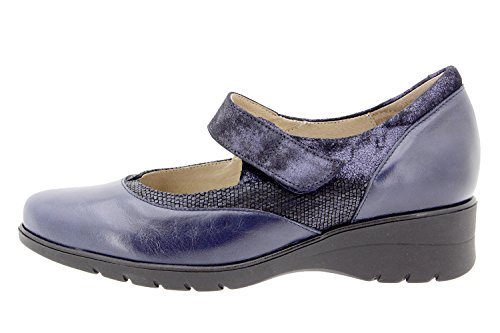 Chaussure femme confort en cuir Piesanto 9957 Mary Jean confortables amples Marino