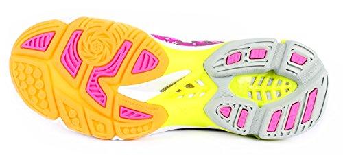 Mizuno Damen Wave Lightning Z4 Mid Wos Volleyballschuhe Pink (Pinkglowhiteirongate)