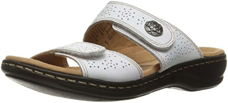 Clarks Wouomo Leisa Lacole Slide Sandal, bianca Leather, Leather, Leather, 8.5 W US | Abile Fabbricazione  | Scolaro/Ragazze Scarpa  be9709