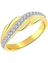 Vihdi Jewels Gold Plated Stylish Diamond Studded Brass Finger Ring for Women & Girls [VFR448G]