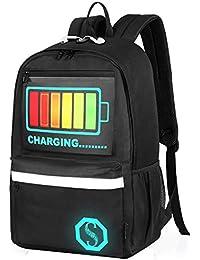 Luggage Mochila Impermeable Oxford, Mochila Inteligente activada por Voz Inteligente, Mochila de Estudiante