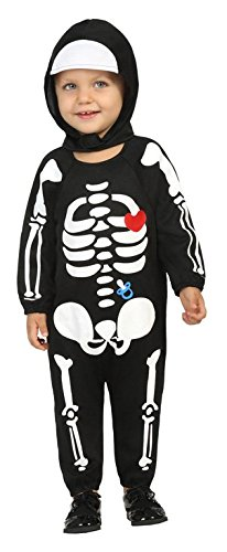 Atosa costume da scheletro bambino per halloween 1 a 2 anni