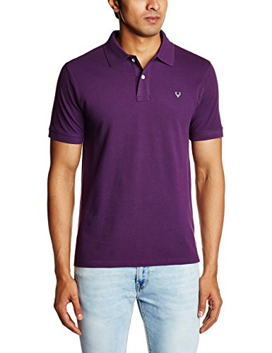 Allen Solly Men's Cotton Polo (8907308012020_AYKP1S01472_M_Blackberry and Menthol)