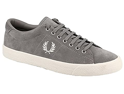 Fred Perry Underspin Suede Falcon Grey White B2130C53, Basket -
