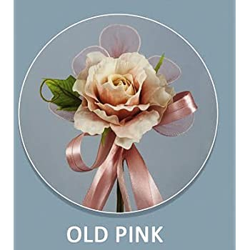 Segnaposto Matrimonio Rosa Antico.Confezione 12 Pezzi Bomboniera Fiore Bouquet Con Racchette