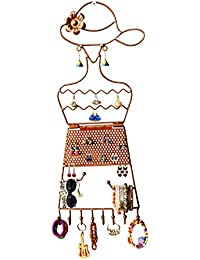 ORCHID ENGINEERS Copper Jewellery Display Stand for Earrings, Necklace, Bracelet for Women