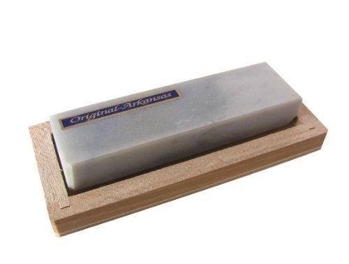 Abziehstein Hart Arkansas 100x30mm in Holzbox 120x50mm (Klinge Arkansas)