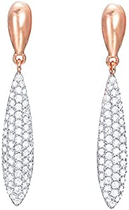 ESPRIT Glamour Women's Earrings Rose-It-IRAYA transparent ESER03041C000 Partially Gold-Plated with Cubic Z