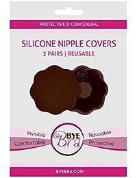 NUEVO Bye bra pezón de silicona Cubiertas para oscuro o piel bronceada (un solo tamaño y reutilizable)